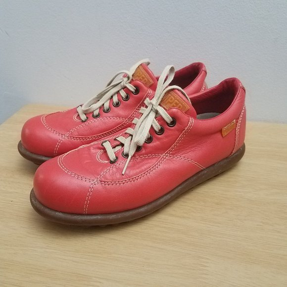 Camper Shoes | Womens Red Leather